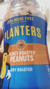 NY土産の大きなハニーローストピーナッツ