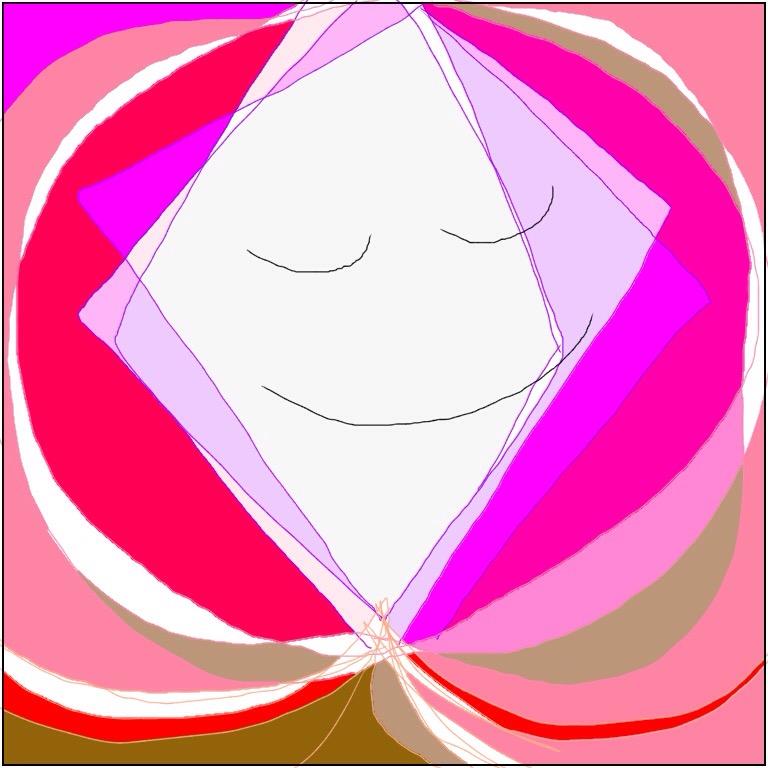 淡い桃色の柔らかいフカフカのベッドにガラスで包まれた子宮が描かれた子宮のイラスト