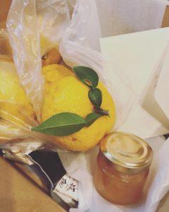 冬至にと送られてきた柚子の贈り物